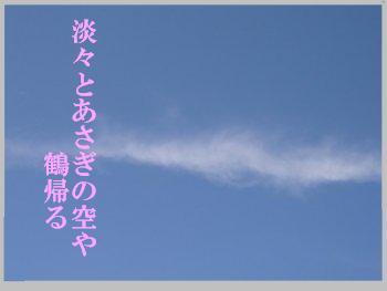 春・鶴帰る